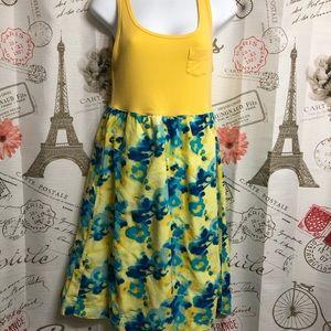 Gap Yellow and Blue Dress